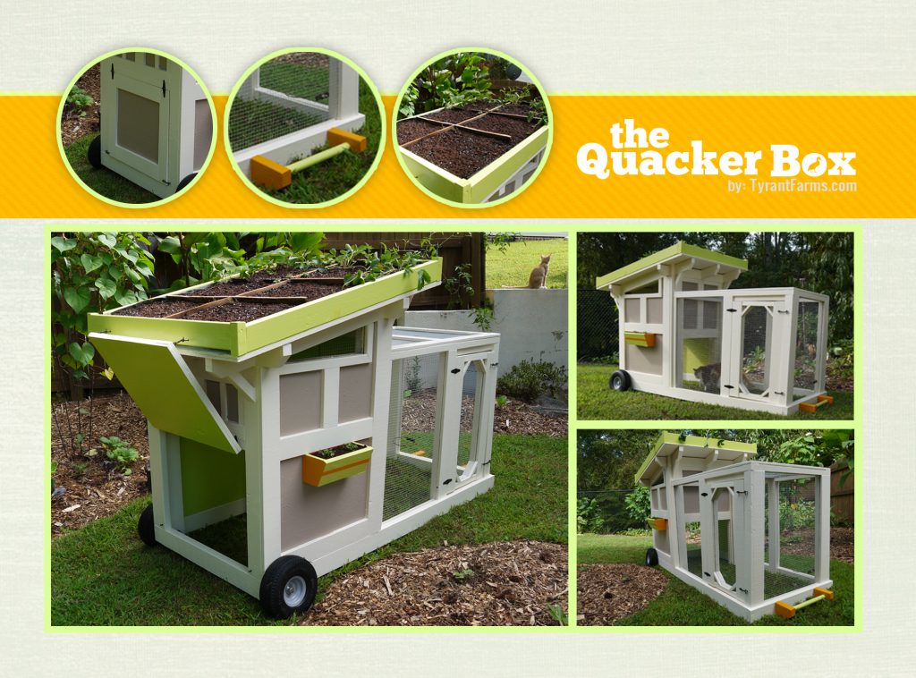 The Quacker Box - duck tractor, coop, house... via tyrantfarms.com