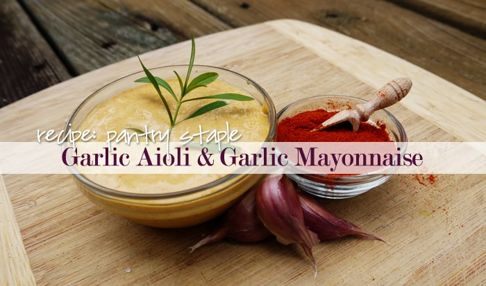 Recipe Aioli Provencal Garlic Mayonnaise Aka Garlic Mayo