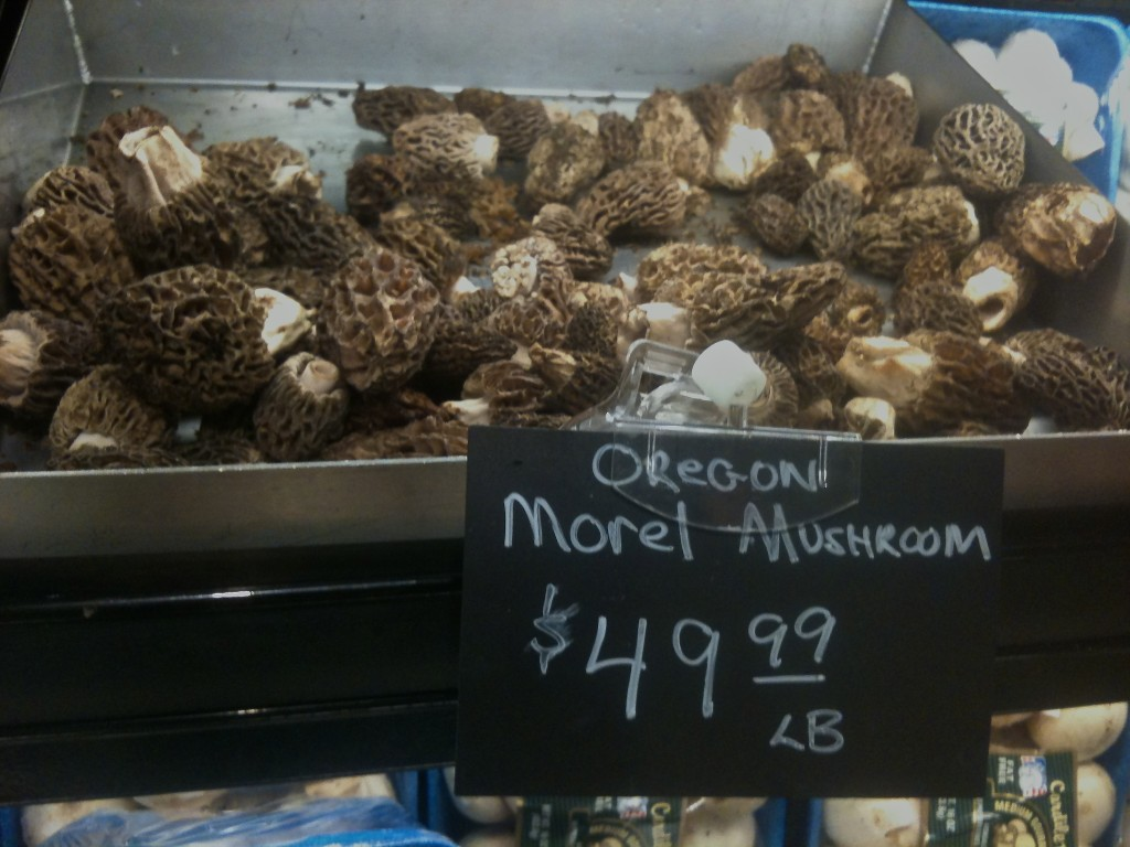 Oregon Morels in the Greenville, SC Whole Foods - May 2010