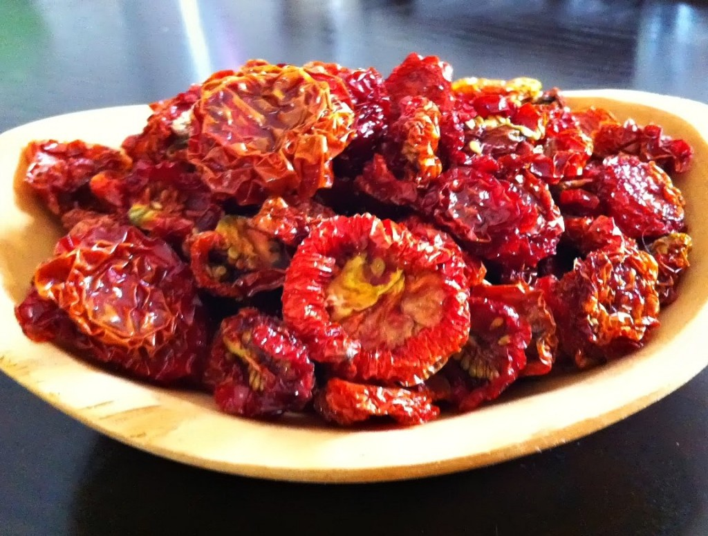 bowl of sun dried tomatoes at Tyrant Farms