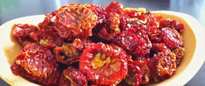 Sun-dried tomatoes at Tyrant Farms!