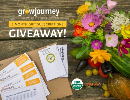 GrowJourney Gift Subscription Giveaway - www.TyrantFarms.com