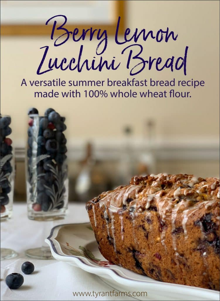Whole wheat summer breakfast bread with zucchini and berries.